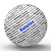 Salaries sphere definition means employer earnings or incomes Stock Illustration