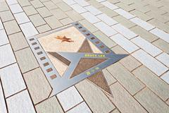 bruce lee star - stock photo