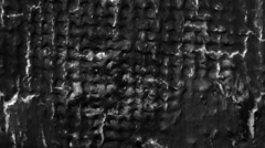 Black paint surface with fractures and cracks Stock Footage