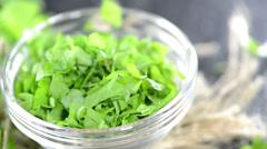 Flat leaf parsley (loopable) Stock Footage