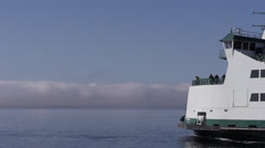 Ferry MV Kennewick Departing Coupeville Stock Footage
