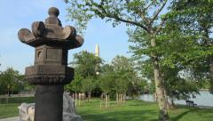 Japanese Stone lantern, Washington, DC Stock Footage