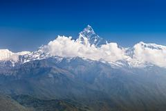 Machhapuchhre and annapurna mountains Stock Photos