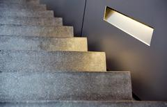 Minimalism style stairs with lighting Stock Photos