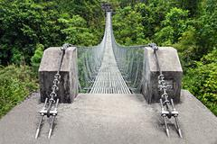 Modern metal bridge Stock Photos
