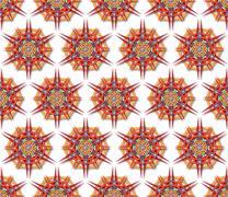 fabric mandala harsh sunlight - stock illustration