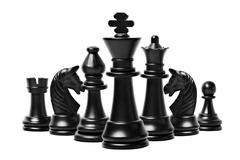 chess figures isolated - stock photo