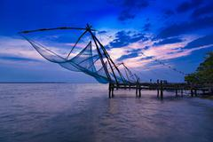 Chinese fishing net Stock Photos