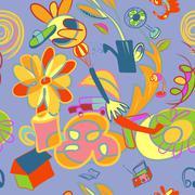 seamless artistic background - stock illustration