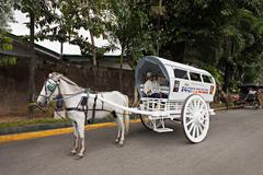 Carriage in intramuros Stock Photos