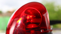 Police Red Emergency Light Stock Footage