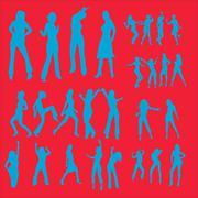 Dance Girl Vector  - stock illustration