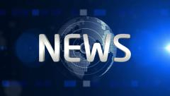 blue news generic - stock footage