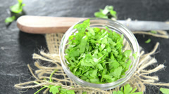 Fresh parsley (not loopable) Stock Footage