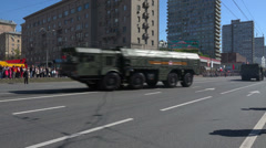 4K Military parade in Moscow. Stock Footage