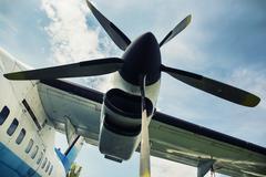 Engine propeller aircraft Stock Photos