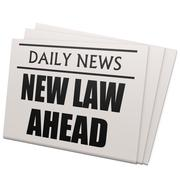 newspaper new law ahead - stock illustration