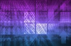 Binary code background Piirros