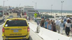 Taxi in Santa Monica - stock footage