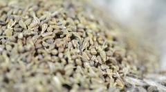 Small heap of anise as loopable full hd close-up video Stock Footage