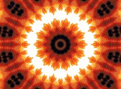 Stock Illustration of gerber flower abstract pattern
