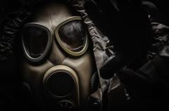 Man in protective suit - stock photo