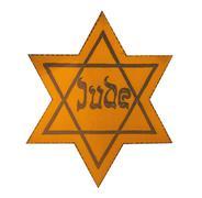 Jewish yellow star Stock Photos