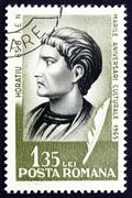 Postage stamp Romania 1965 Horace, Roman Poet - stock photo