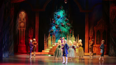 New Years performance The Nutcracker and the Mouse King Stock Footage