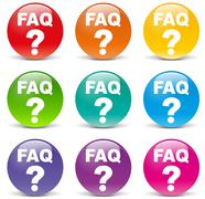 Vector faq icons Stock Illustration