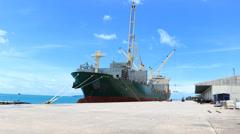Phuket Shipyard Working Time Lapse Stock Footage