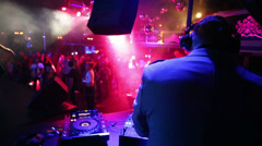 People dance in nightclub Base during DJ Solovey birthday party Stock Footage