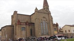 Basilica of Santa Maria Novella Stock Footage