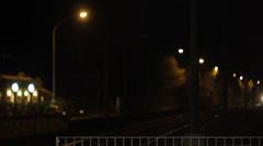 Night Train in Rome Stock Footage