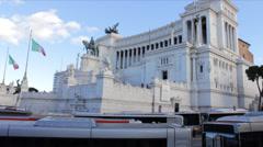 Vittoriano from Piazza Venezia - stock footage