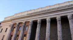 Temple of Hadrian Stock Footage