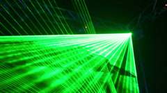 Modern laser lighting equipment at exhibition Stock Footage