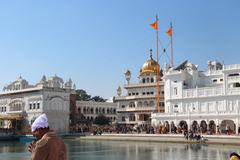 At the golden temple complex in Amritsar. Stock Photos