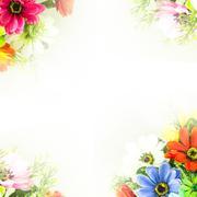 Flower background.  fake flowers Stock Illustration