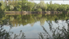 Window on the Desna river Stock Footage