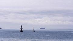 Juan de Fuca Strait from Ogden Point Time Lapse Stock Footage