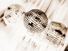White disco globe Stock Photos