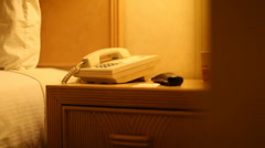 Hotel Room Phone 01 HD Stock Footage
