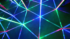 Floor of mirror labyrinth illuminated with bright light Stock Footage