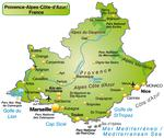 Stock Illustration of map of provence-alpes-cote d azur as an overview map