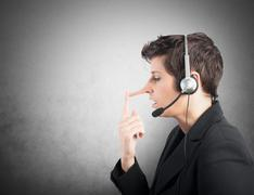 customer support liar - stock illustration