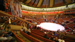 Overview of the Great Moscow State Circus hall Stock Footage
