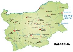 Map of bulgaria as an overview map in pastel green Stock Illustration