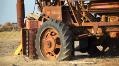 Rusty Harvester 02 HD Stock Footage