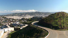 View of San Francisco & Noe peak from Eureka peak of Twin Peaks. Stock Footage